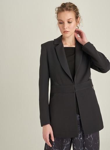 NGSTYLE Organze Detaylı Ceket Siyah